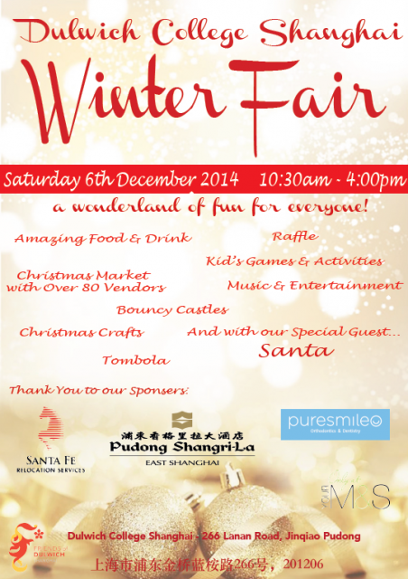 Meet me at the Dulwich Winter Fair on December 6th